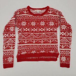Canyon River Blues | Girls Sweater | Red | Holiday